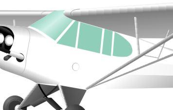 Piper J3 Cub Aircraft Windshields